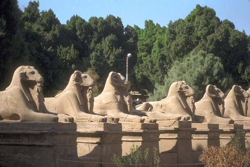 The Sphinxes Avenue at Karnak Temples