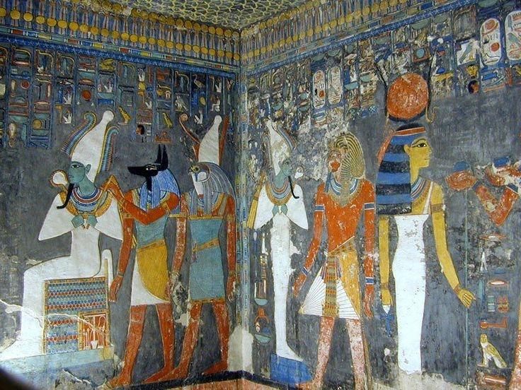 Pintura no Vale dos Reis, Luxor