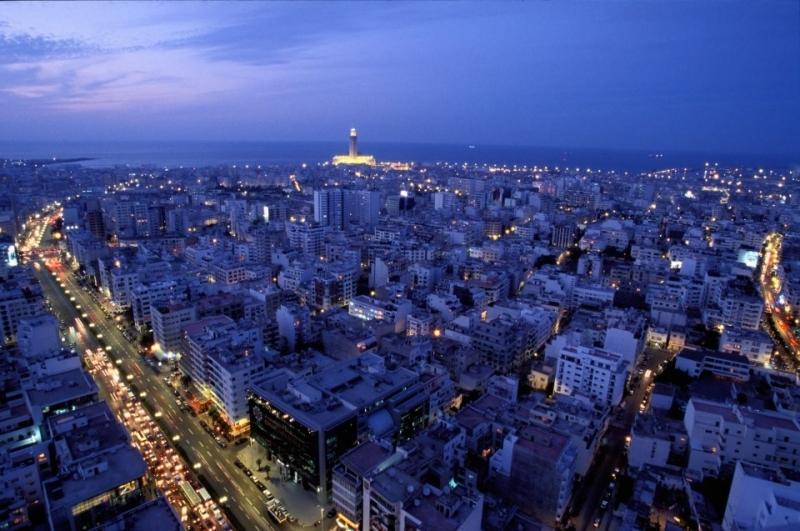La ciudad de Casablanca, Marruecos