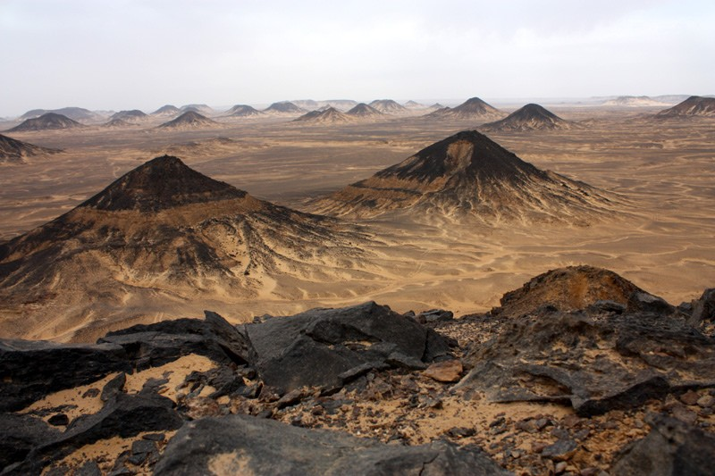 The Black Desert in Egypt's Western Desert.