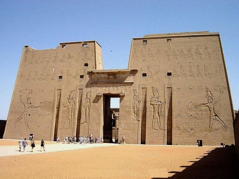Edfu Temple in Upper Egypt