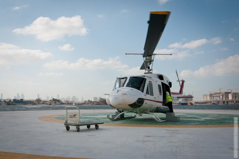 Helikopterflug über Dubai
