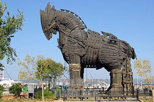 Trojan Horse, Troy, Turkey