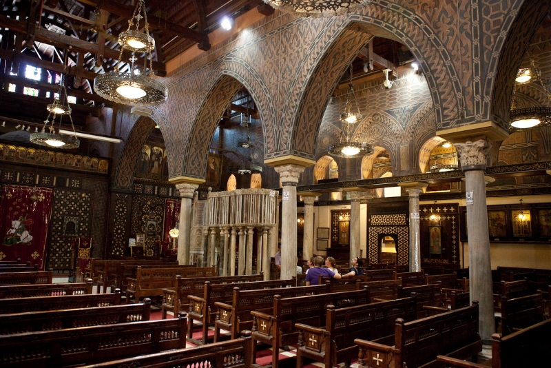 Inside Hanging Church in Giza