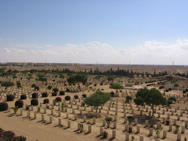 El Alamein Commonwealth cemetery in the northern Matrouh Governorate of Egypt.