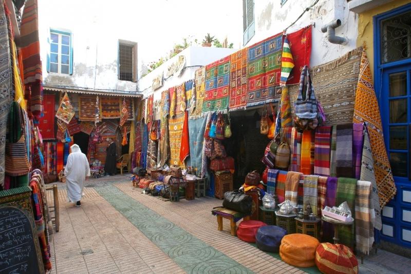 Souk dans la médina d'Essaouira