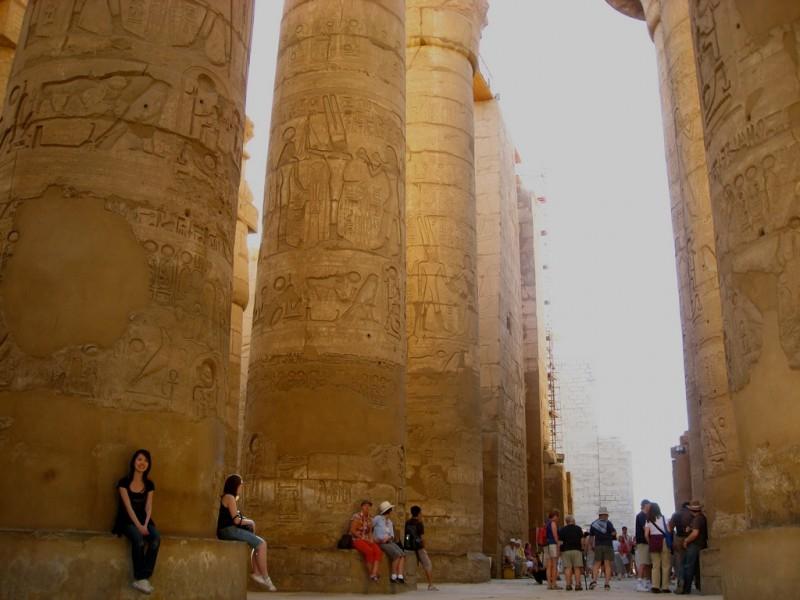 Salle hypostyle, Temple de Karnak