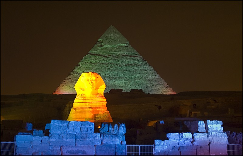La Sfinge e La Piramide di Chefren
