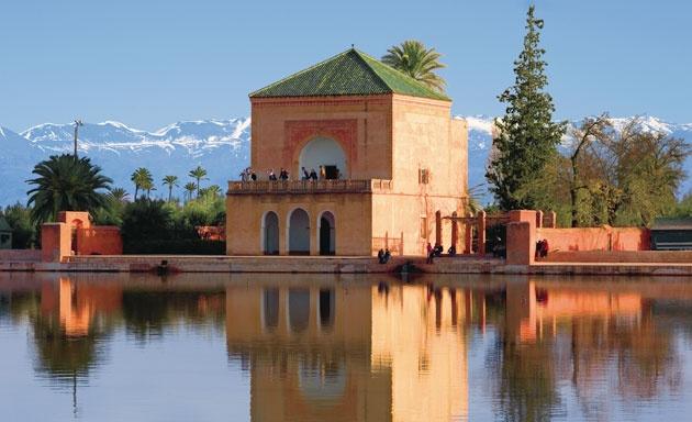 El Jardin de Menara por la mañana, Marruecos.