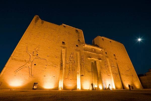 Edfu Temple by Night, Upper Egypt