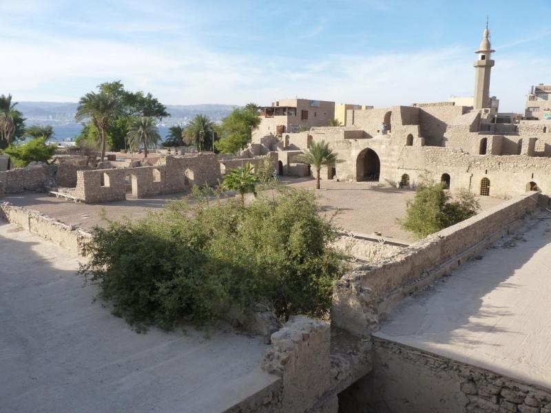 Fortaleza mameluco na cidade de Aqaba