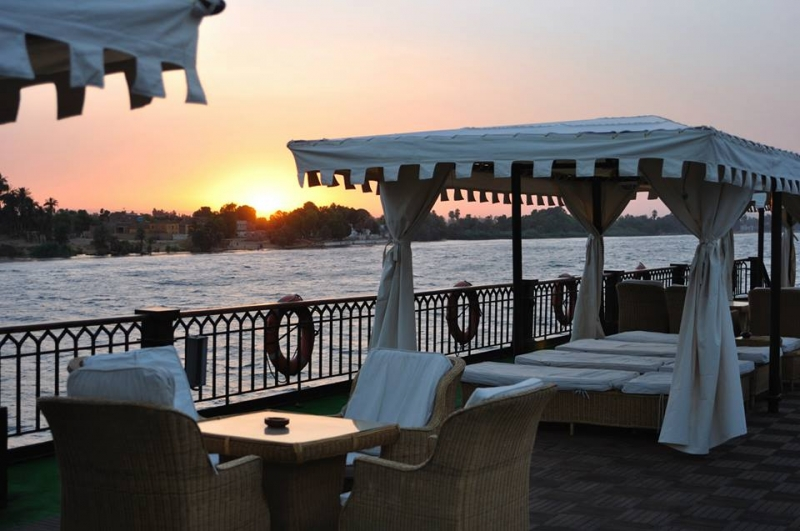 SS Misr Sundeck by the sunset