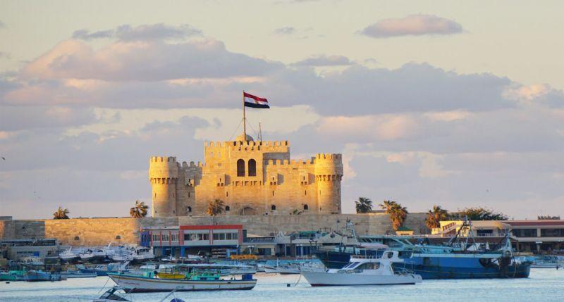 Sultans Qaitbay Fort in Alexandria
