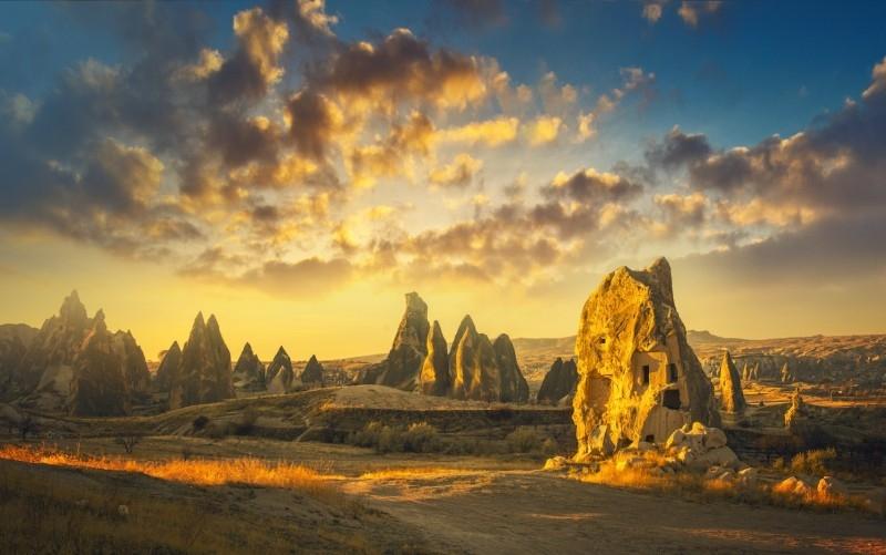 Rock Formation of Cappadocia Valley, Turkey