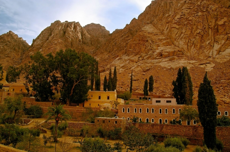Moses Mount and St. Catherine's Monastery in Sinai