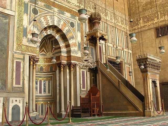 Mihrab et chaire dans la Mosquée du Sultan Hassan