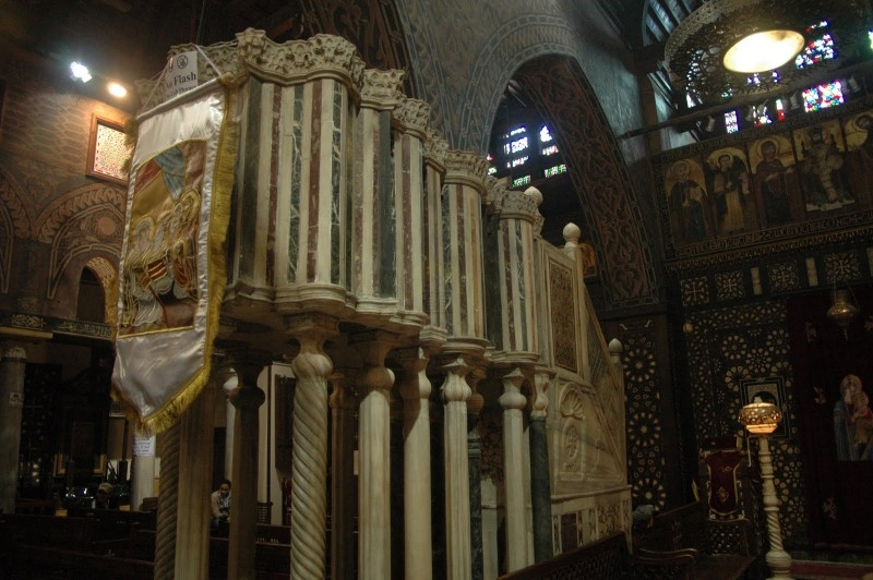 Pulpit infront of the Iconostasis and the Chapel