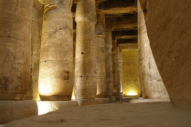 Salle hypostyle, Temple d'Abydos
