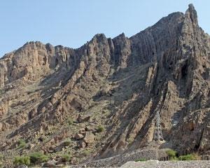Mega syncline in Oman