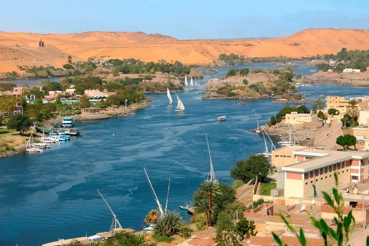 The Nile of Aswan City
