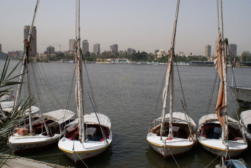 Felucca on the Nile River, Cairo