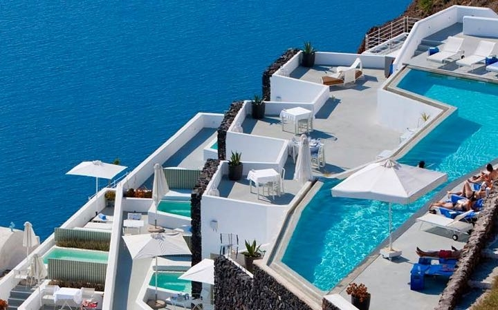 la isla de Santorini