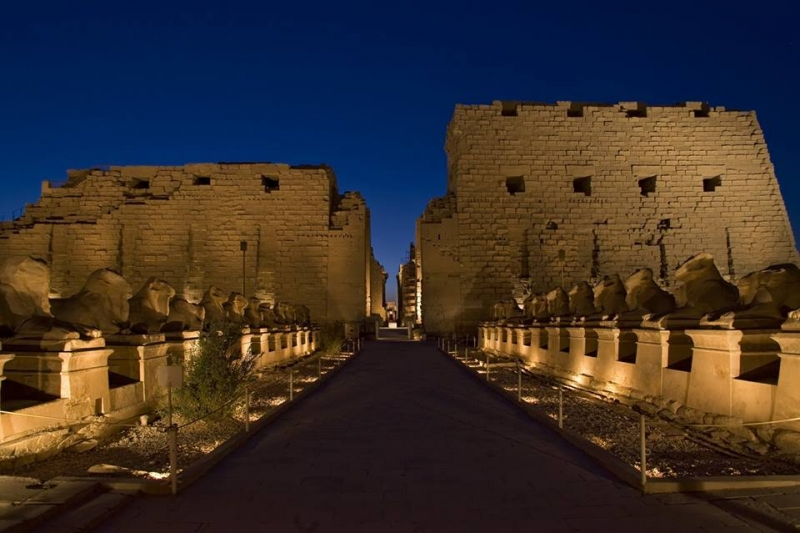 Karnak Temple by Night