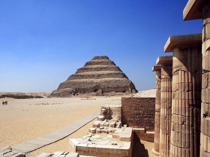 Djoser Step Pyramid in Saqqara, Egypt