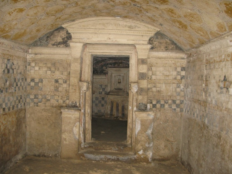 Inside the Catacombs of Kom el-Shuqafa