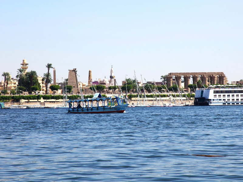Nile view of Karnak Temples