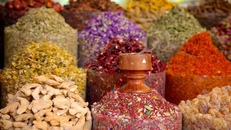 el Mercado de Oro y Especias en Dubai
