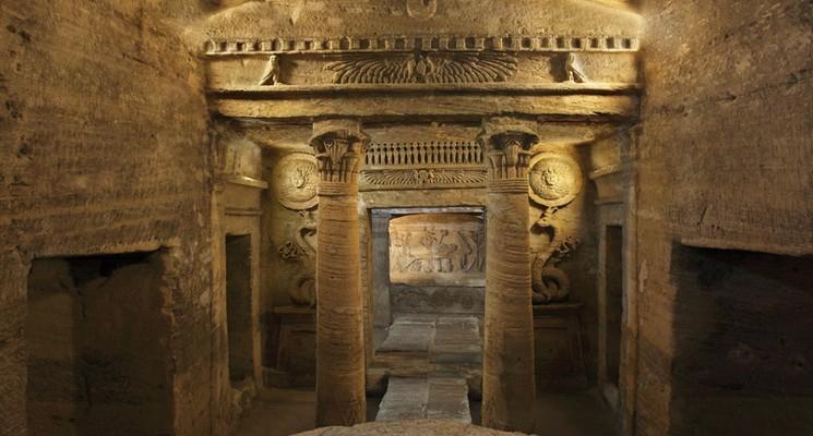The Catacombs of Kom El-Shokafa in Alexanderia