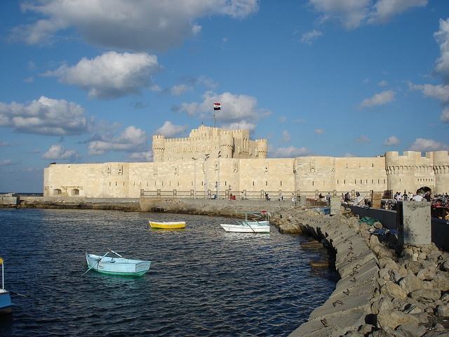 Qaitbay Fort from the sea side