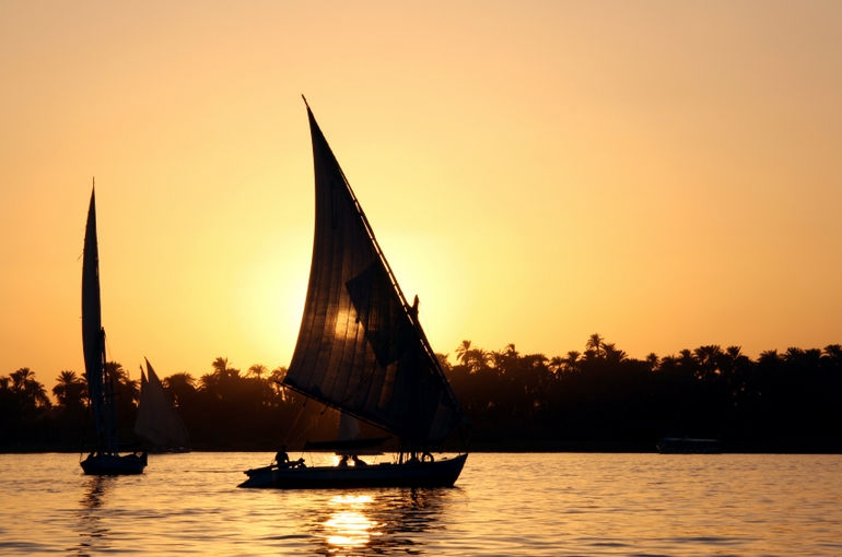Sunset over the River Nile, Cairo