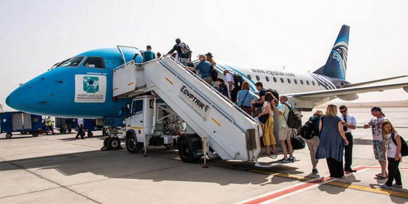 L'aeroporto internazionale del Cairo