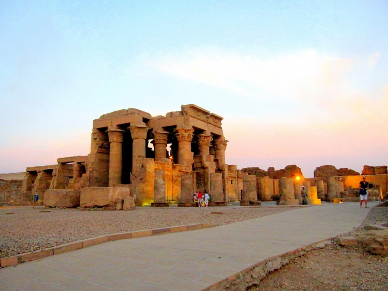 Kom Ombo at sunset