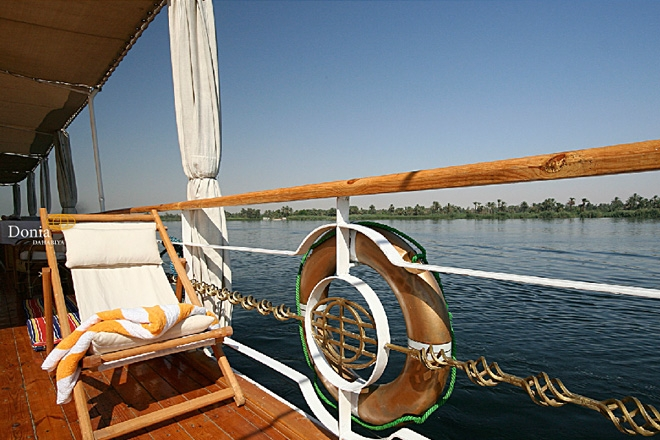 Nile view from Donia Dahabiya Cruise
