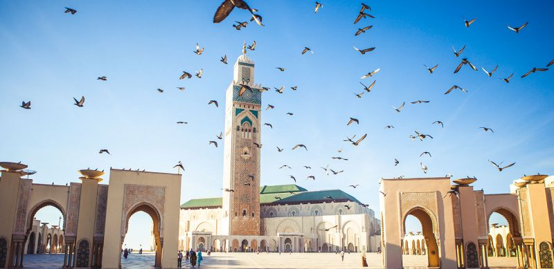 A grande Mesquita Hassan II