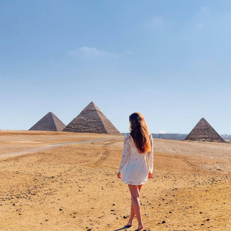 Las Pirámides de Giza en Egipto