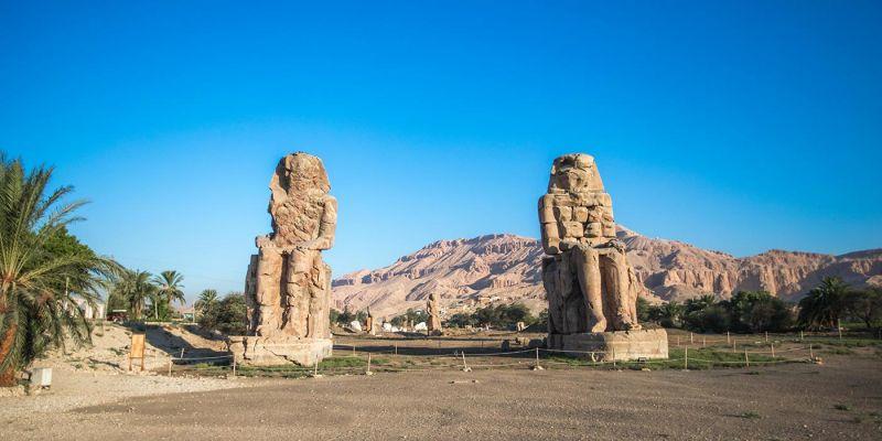 Los Colosos de Memnón en Luxor