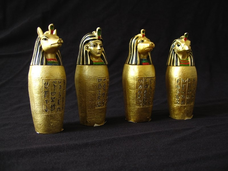 Image result for Canopic Jars ancient egypt