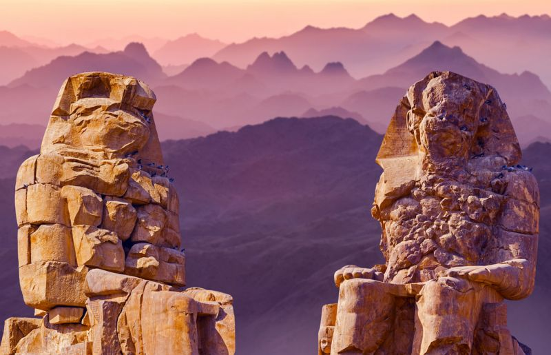 Memnon Kolosse: Memnon Kolosse in Luxor