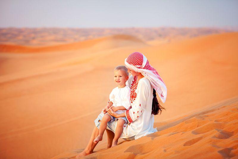 Sandboarding in Desert Safari Dubai