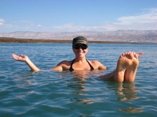 Enjoying The Dead Sea, Jordan