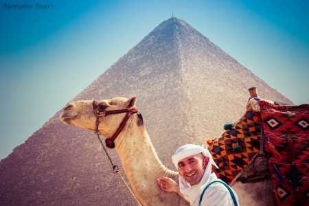 Camel Ride at the Pyramids, Egypt