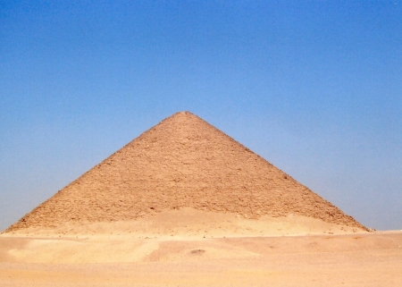 The Red Pyramid at Dahshur , Egypt