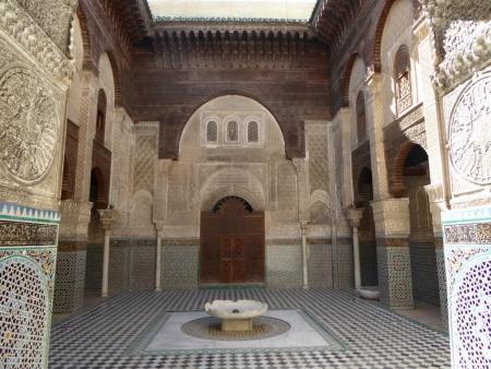 La mezquita de Karaouine por dentro.