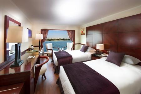 Amwaj Livingstone Nile Cruise Twin Cabin