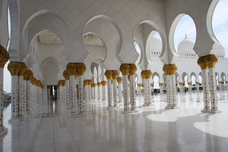 Columns Decorated with Gold, Sheikh Zayed Mosque