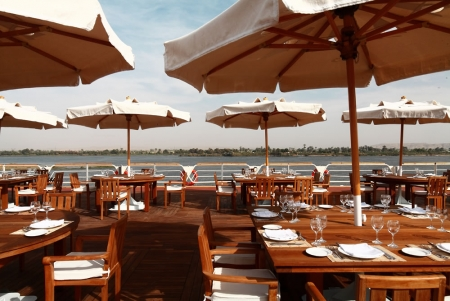 The sun deck of the Nile Cruise
